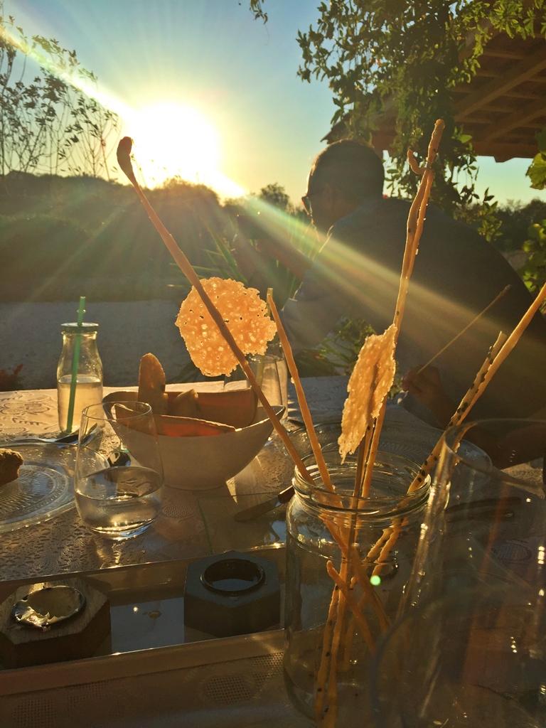 Winery sunset