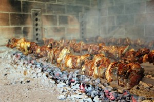Lamb on a spit